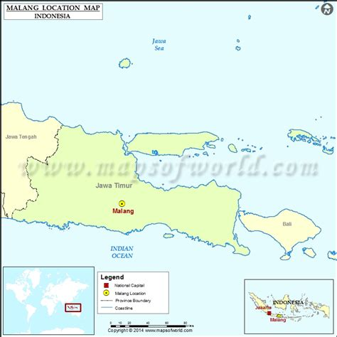 where is malang location of malang in indonesia map