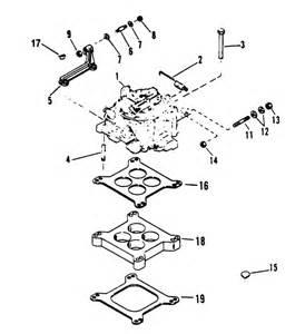 mercruiser 454 mag bravo v gm 454 v 8 1995 1996 carburetor linkage parts