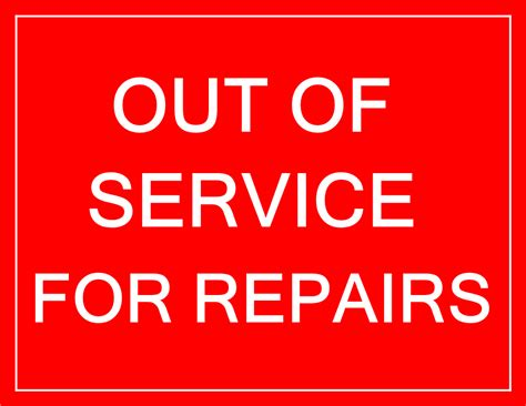 Free Out Of Service Sign In Red Color Templates At Allbusinesstemplates Com Out Of Service Sign Template