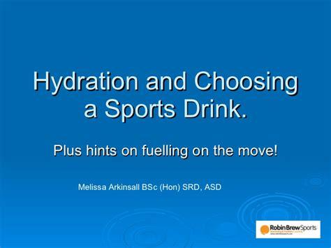 hydration names hydration strategies choosing a sports drink