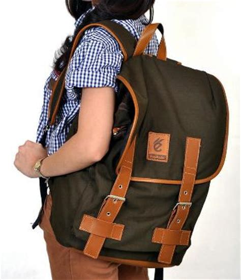 Tas Esgotado Fintagio Segundo Black Brown Green tas vintage kanvas combi leather brown tas ransel