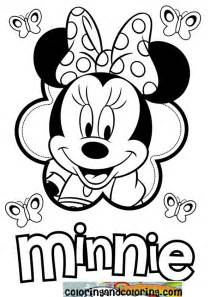 free minnie mouse drawing coloring pages