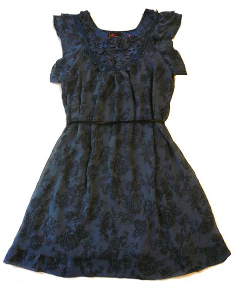 Dx 43 Dress Flower Navi yumi tea print chiffon dress navi s