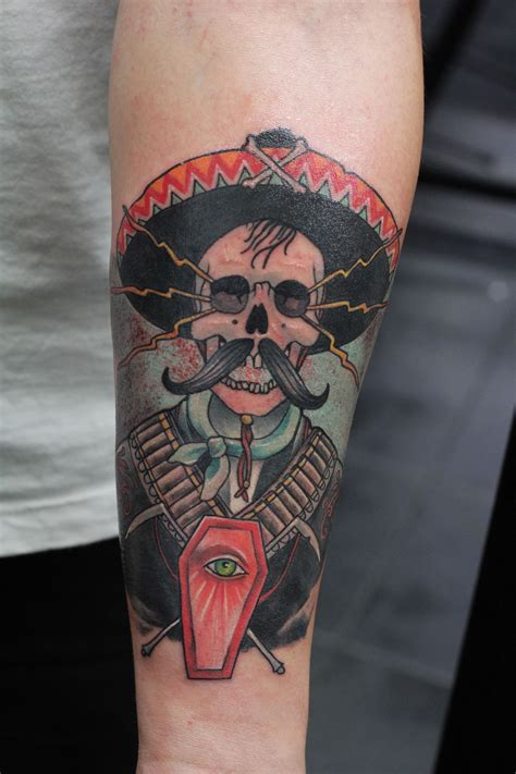 traditional mexican tattoos school color mexican mexixan