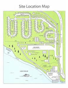us map with rv parks park map city of chelan