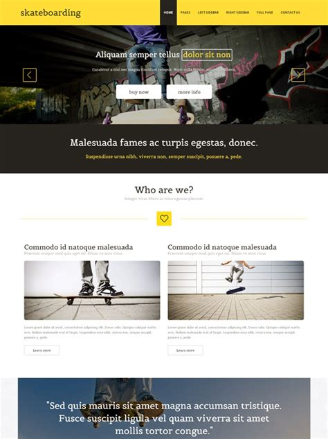 Skateboarding Competition Website Template Skateboarding Sports Dreamtemplate Competition Website Template