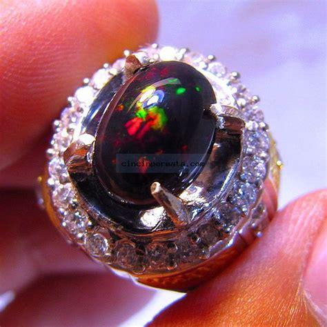 Kalimaya Banten Cutting Oval batu black opal kalimaya banten cincinpermata jual