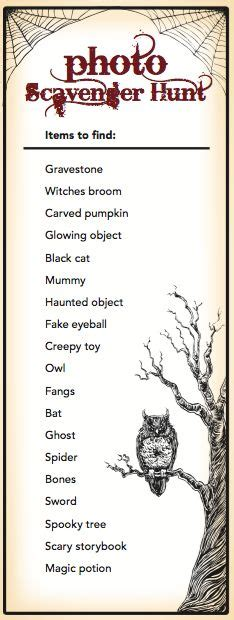 free halloween printable games for adults top 25 ideas about halloween scavenger hunt on pinterest