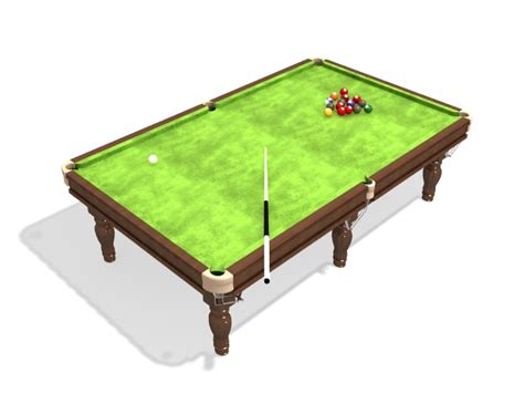 american standard pool table 3d model 3ds max files free