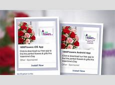 Facebook Mobile Ads Push Flowers for Valentine's Day – Adweek 1 800 Flowers.com