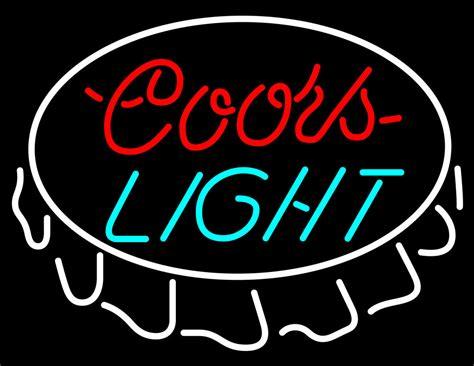 coors light neon sign coors light bottle cap neon sign neon