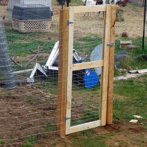 Deer Fence Door - putting up fence and building a gate no deer or goats