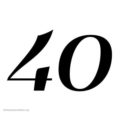 printable numbers 1 40 6 best images of printable number 40 printable numbers 1