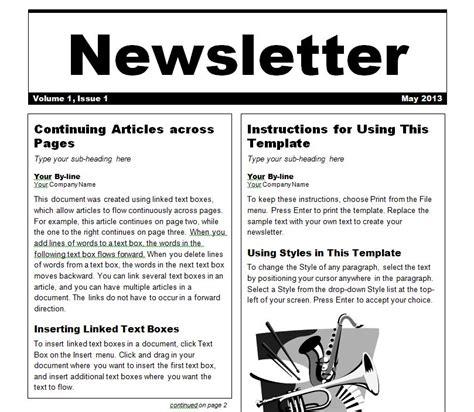newsletter template newsletter templates word