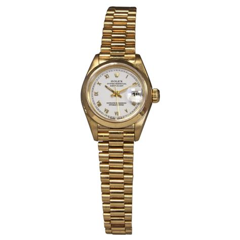 pre owned rolex 18ct yellow gold datejust