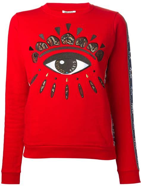 Kenzo Sweater Import 1 kenzo eye panel sweater in lyst
