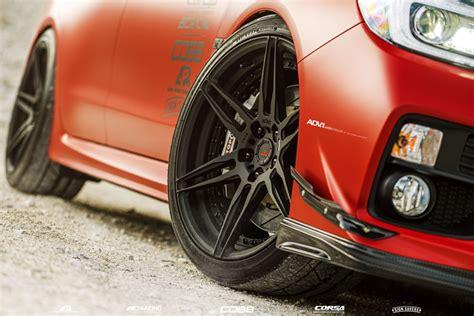 sti subaru red matte red subaru wrx sti adv06 m v2 cs adv 1 wheels