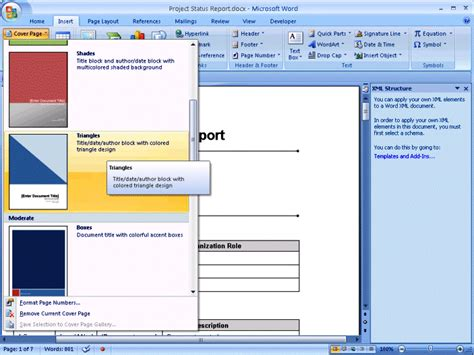 templates for cover pages in word 2007 office word 2007 cover page templates proyectoportal com
