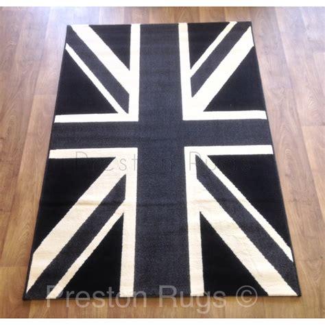 Grey Union Rug by Union Rug Black Grey White