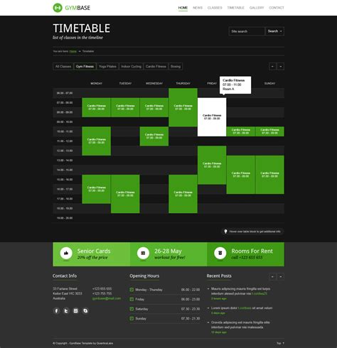 gym layout template gymbase gym fitness psd template by quanticalabs