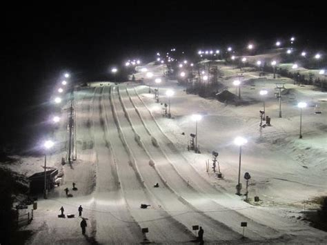 partial view of ski slopes at night   Picture of Bear