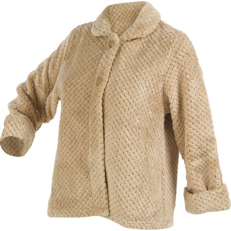 bed jackets womens luxury waffle fleece bed jacket slenderella button