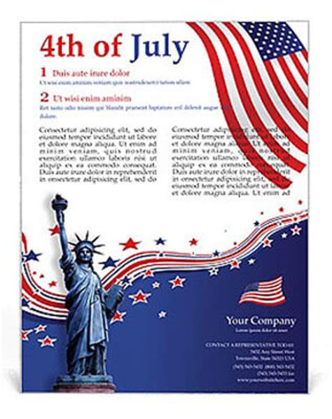 4th of july templates 4th of july flyers fourth of july celebrations