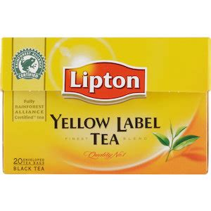 Teh Lipton Yellow Label Tea lipton yellow label black tea 20 bags lipton coop home