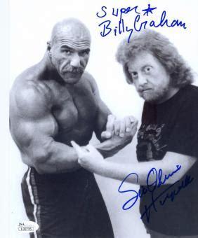 ivan putski bench press billy graham memorabilia autographed signed