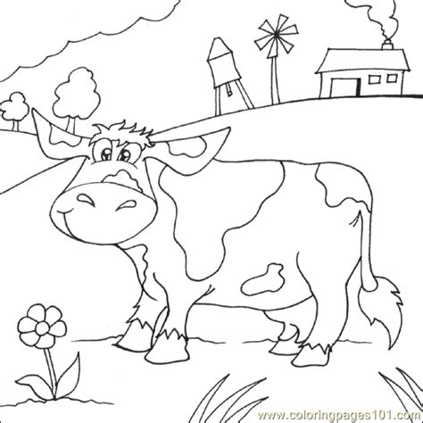 cow farm coloring page farm cow coloring page free cow coloring pages
