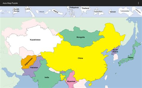 asia map puzzle asia map puzzle android apps on play