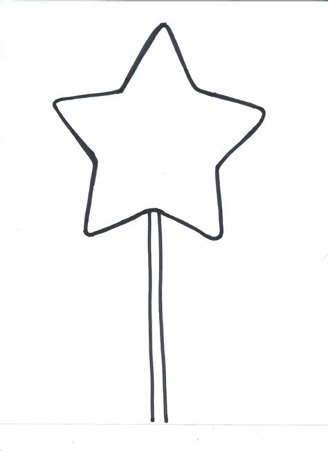 printable star for wand image gallery magic wand coloring page