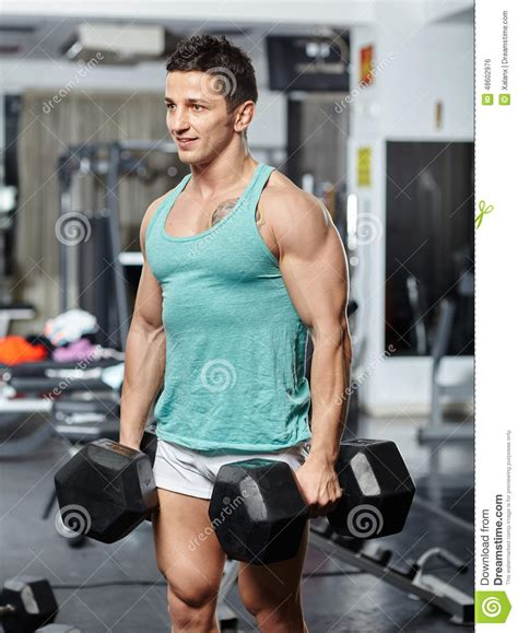 doing workout with heavy dumbbells stock photo image of lift fitness 48602976
