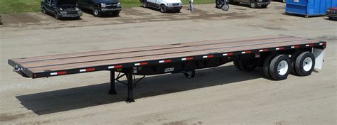 flat bed trailers fb4228p hd 42 foot long flatbed trailer flatbed