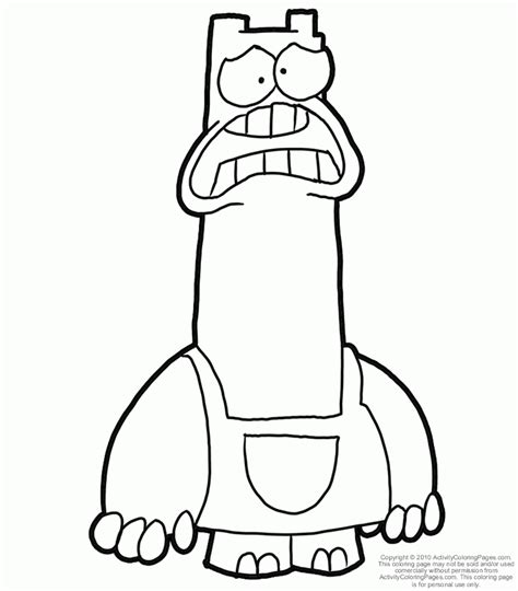 chowder coloring page az coloring pages