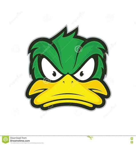 mascot clipart angry duck mascot stock vector image 80229914