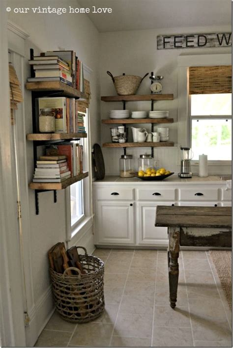 open kitchen shelves inspiration feature friday our vintage home love