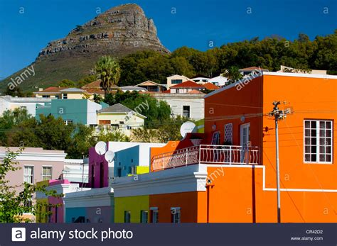 houses to buy in cape town colourful houses bo kaap district cape town western cape south stock photo