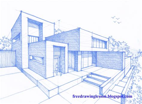 modern house drawing how to draw a house learn to draw
