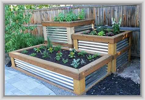 diy raised garden beds corrugated iron misc outdoor