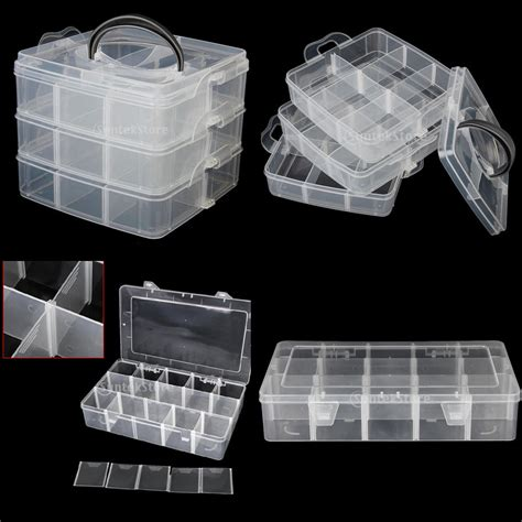 jewelry storage containers clear plastic craft jewelry storage container