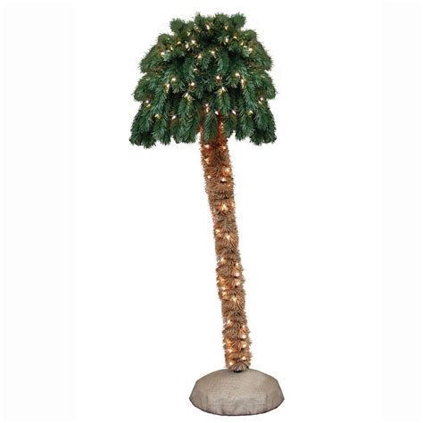 general foam 6 ft pre lit palm artificial christmas tree