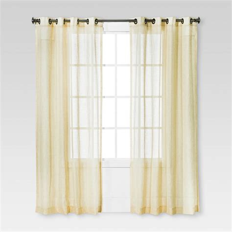 Sheer Grommet Curtains Linen Grommet Sheer Curtain Panel Ebay