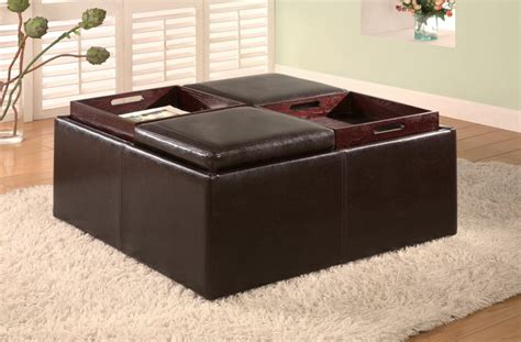Ottoman Table Tray Coffee Table Wonderful Ottoman Coffee Table Tray Leather