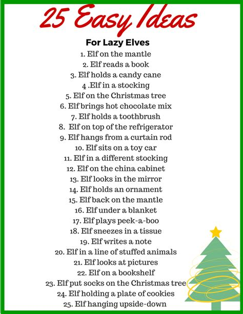 printable elf story 25 easy elf on the shelf ideas for your lazy elf binkies