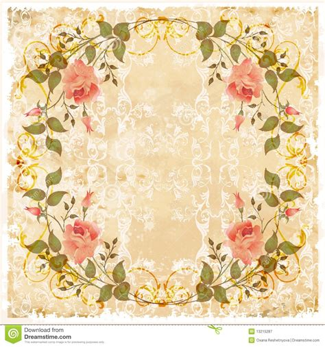 how to make vintage cards vintage greeting card stock vector illustration of grubby