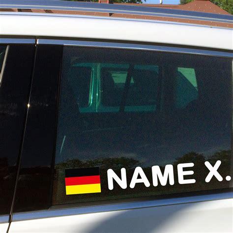 Aufkleber Mit Namen Auto by Namensaufkleber Autosticker Mit Deutschland Flaggen Aufkleber