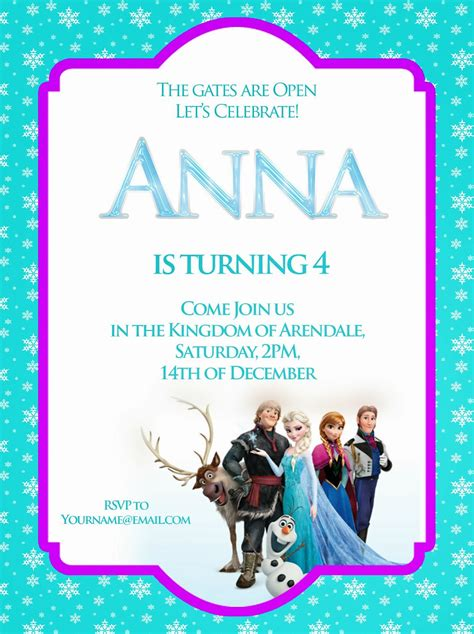 printable frozen birthday party invitations frozen free printable invitations templates