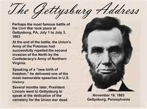 speech from abraham lincoln the gettysburg address quiz it all