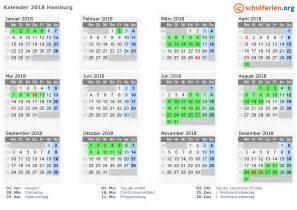 Kalender 2018 Mit Feiertagen Hamburg Kalender 2018 Ferien Hamburg Feiertage